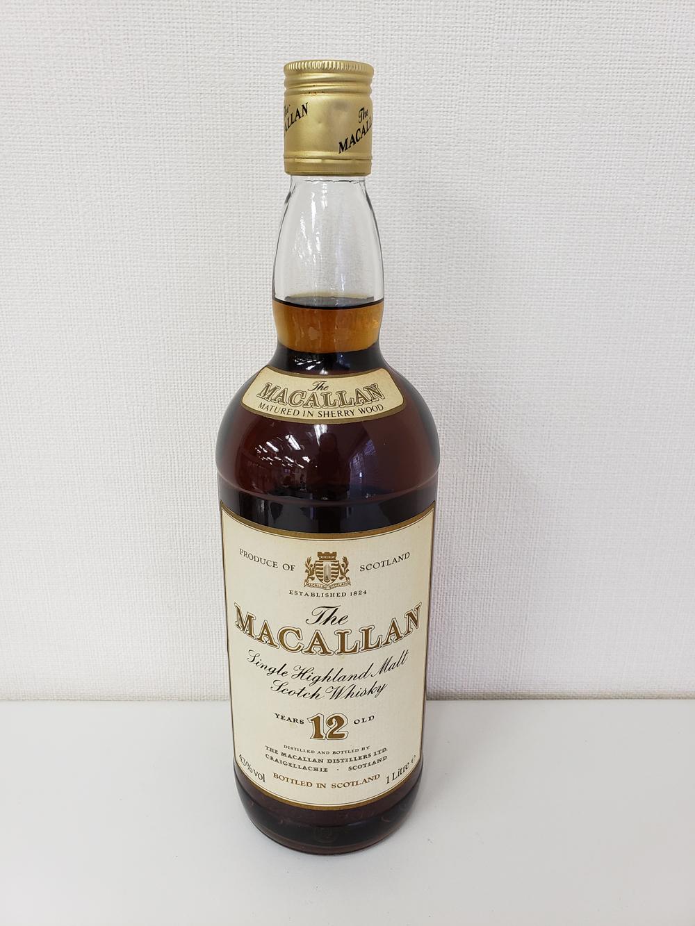 マッカラン12年 1000ml 旧ラベル
